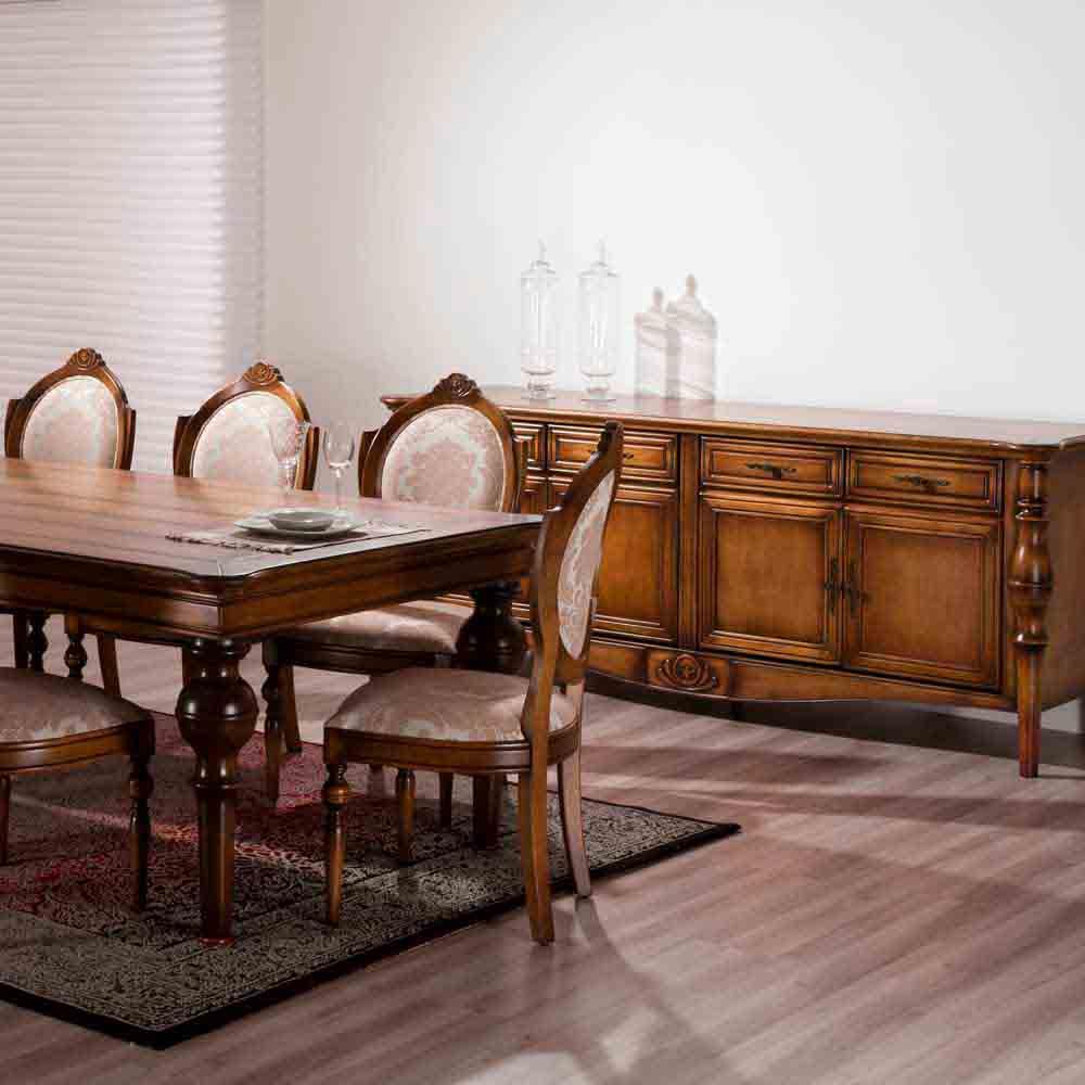 Mesa de Jantar Amistad Madeira Maciça Design Clássico Avi Móveis