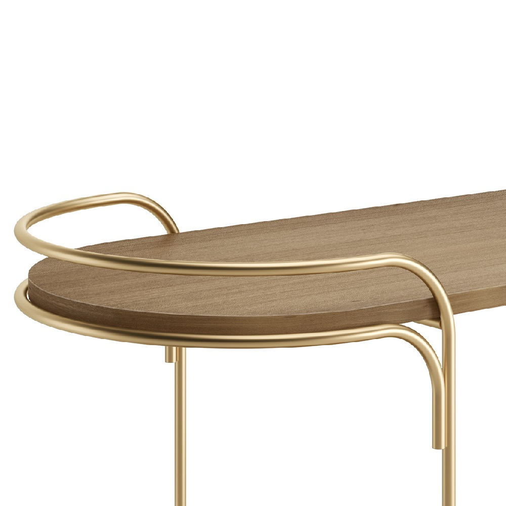 Aparador Arco Base Aço Carbono Coleção Bari Tremarin Design by Ambos Studio