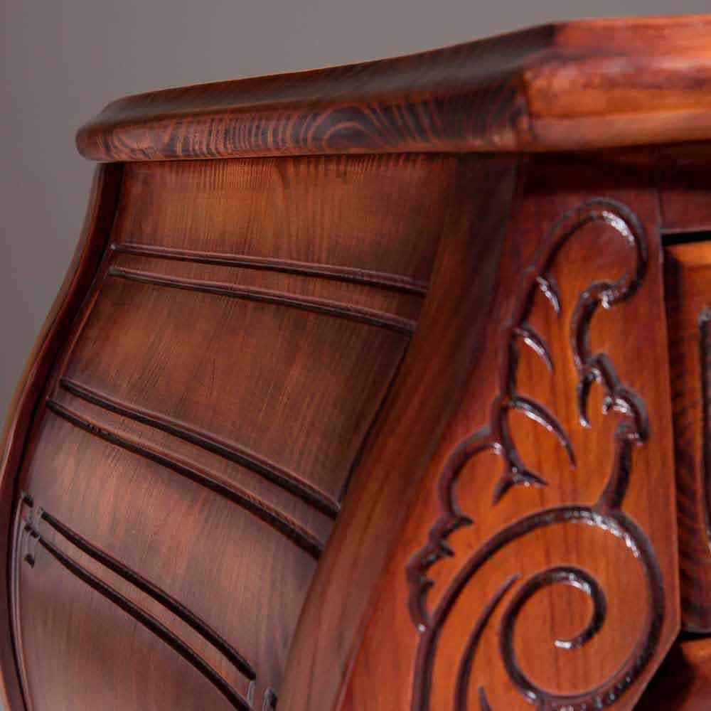 Arca Inspiração Cômoda Bombê Madeira Maciça Design Clássico Avi Móveis
