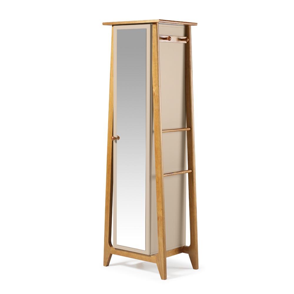 Armário Multiuso Stoka Madeira Maciça e MDF com Espelho Máxima Móveis Design by Designo Design