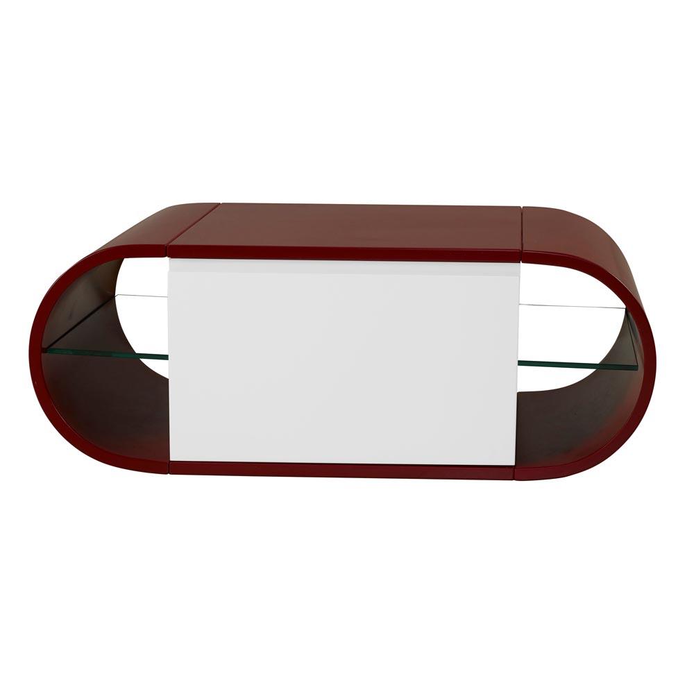 Balcão Wish para Lavabo Prateleira em Vidro Bicolor Máxima Móveis