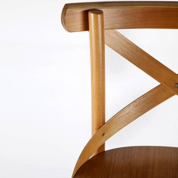 Banqueta Cruz Madeira Maciça Inspirada no Design de Michael Thonet