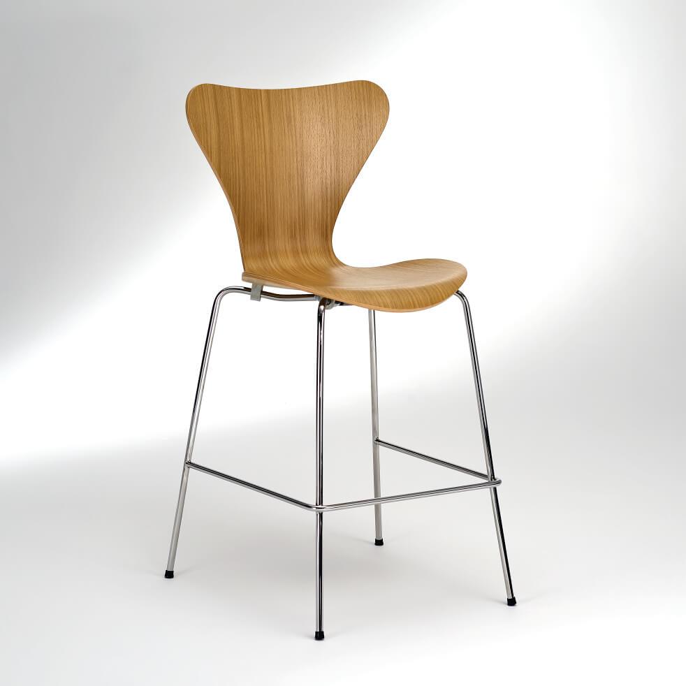 Banqueta Bar Série 7 Estrutura Aço Inox Studio Mais Design by Arne Jacobsen