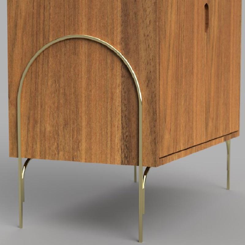 Bar Arco Base Aço Carbono Coleção Bari Tremarin Design by Ambos Studio