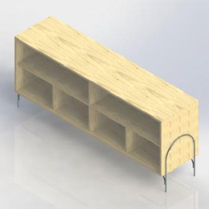 Buffet Arcoi Base Aço Carbono Coleção Bar Tremarin Design by Ambos Studio