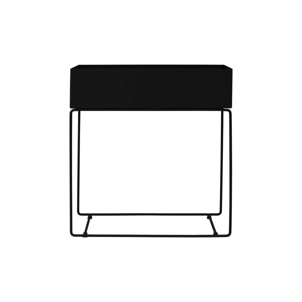 Cachepot Piece Organizador Suspenso Estrutura Aço Carbono Preto Design Industrial e Minimalista