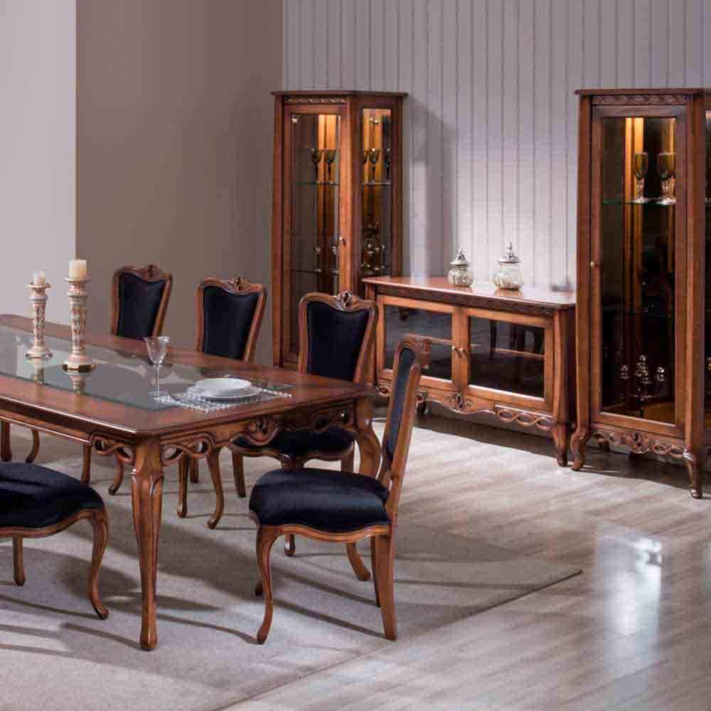 Cadeira Allegra Madeira Maciça Design Clássico Avi Móveis