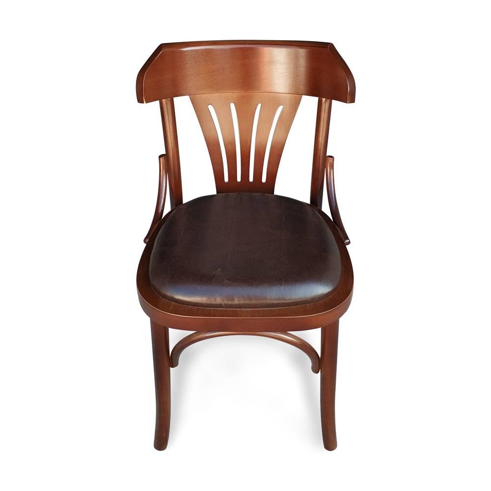 Cadeira Berlim Imbuia Sintético Envelhecido