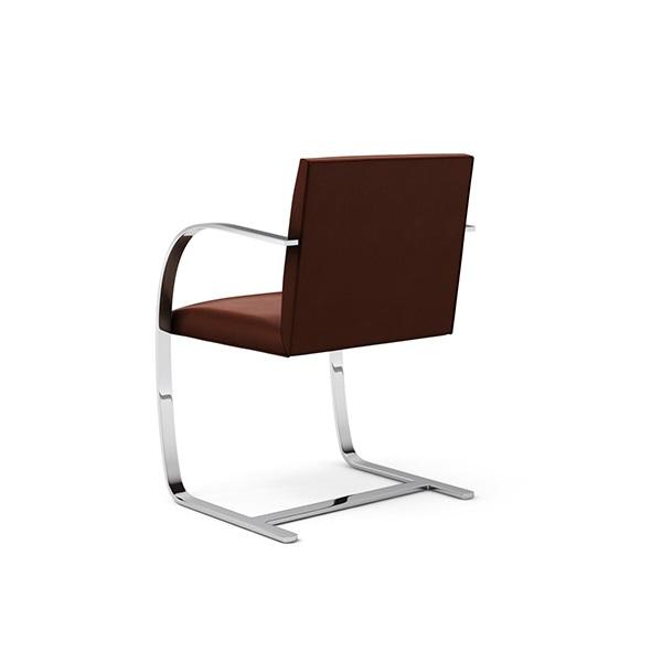 Cadeira Brno 255 Estrutura em Aço Inox Cremon Design by Ludwig Mies van der Rohe