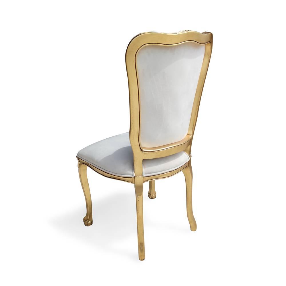 Cadeira Chippendale em Folha de Ouro