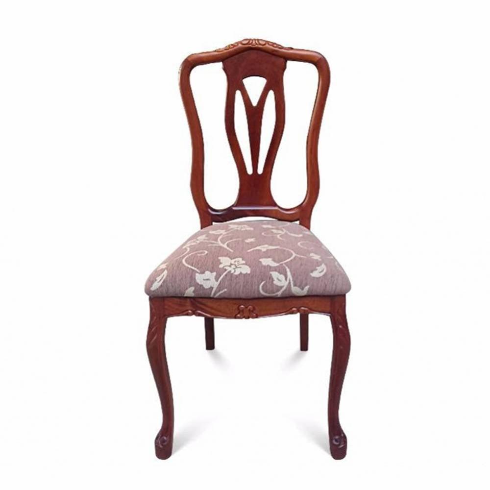 Cadeira Colonial em Madeira Maciça com Pinturas e Tecidos Personalizáveis