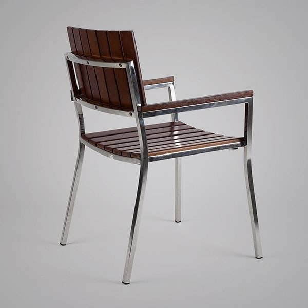 Cadeira com Braço Fillety Estrutura em Aço Inox Design by Studio Artesian