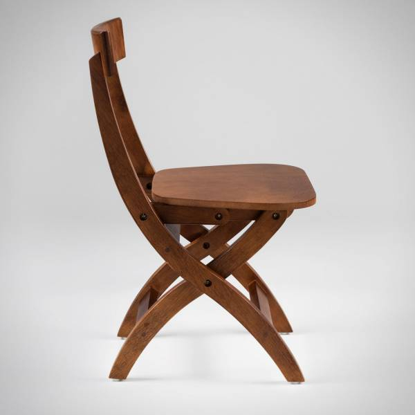 Cadeira Dobrável Estrutura Madeira Maciça Design by Studio Artesian