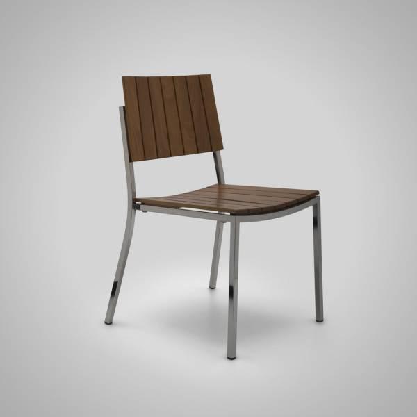 Cadeira Fillety Estrutura em Aço Inox Design by Studio Artesian