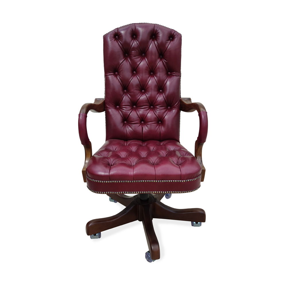 Cadeira Giratória Luxo Capitonê Ajuste de Altura e Relax Design Clássico
