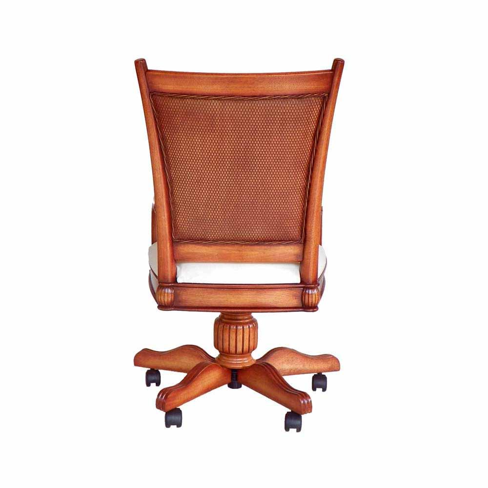 Cadeira Giratória Victory com Braço Madeira Maciça Design Clássico Avi Móveis