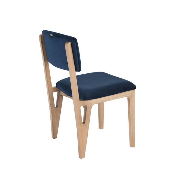 Cadeira Greg Estofada Base Madeira Eucalipto Star Mobile Design by Sérgio Gomes