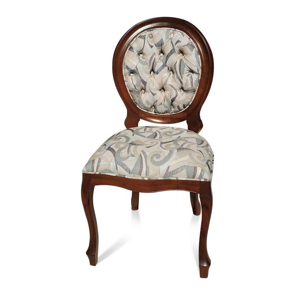cadeira imperial madeira imbuia capitone