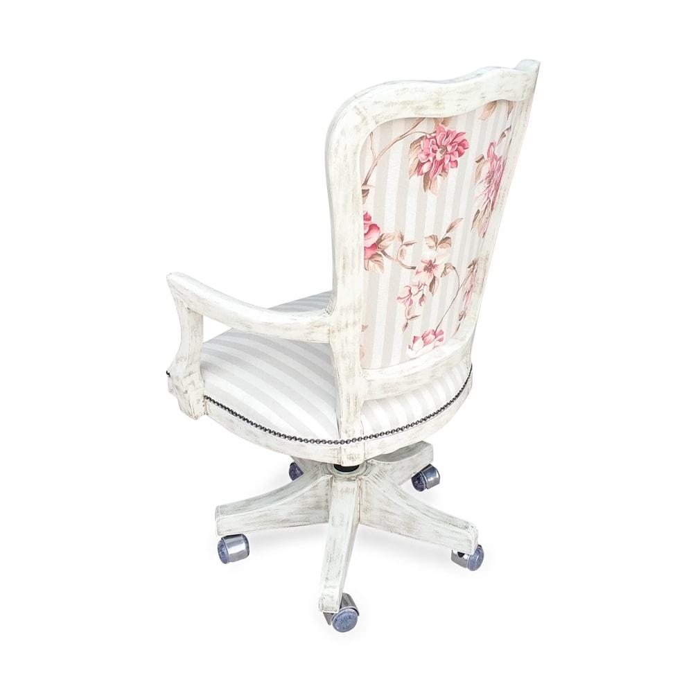 Cadeira Inglesa Giratória Personalizada em Madeira e Capitone com Ajuste de Altura e Relax