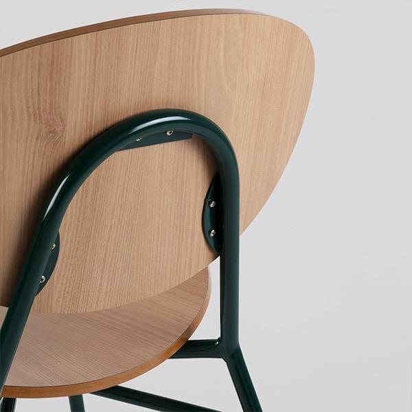 Cadeira Lapa Estrutura em Aço Artesian Design by Fetiche Design Studio
