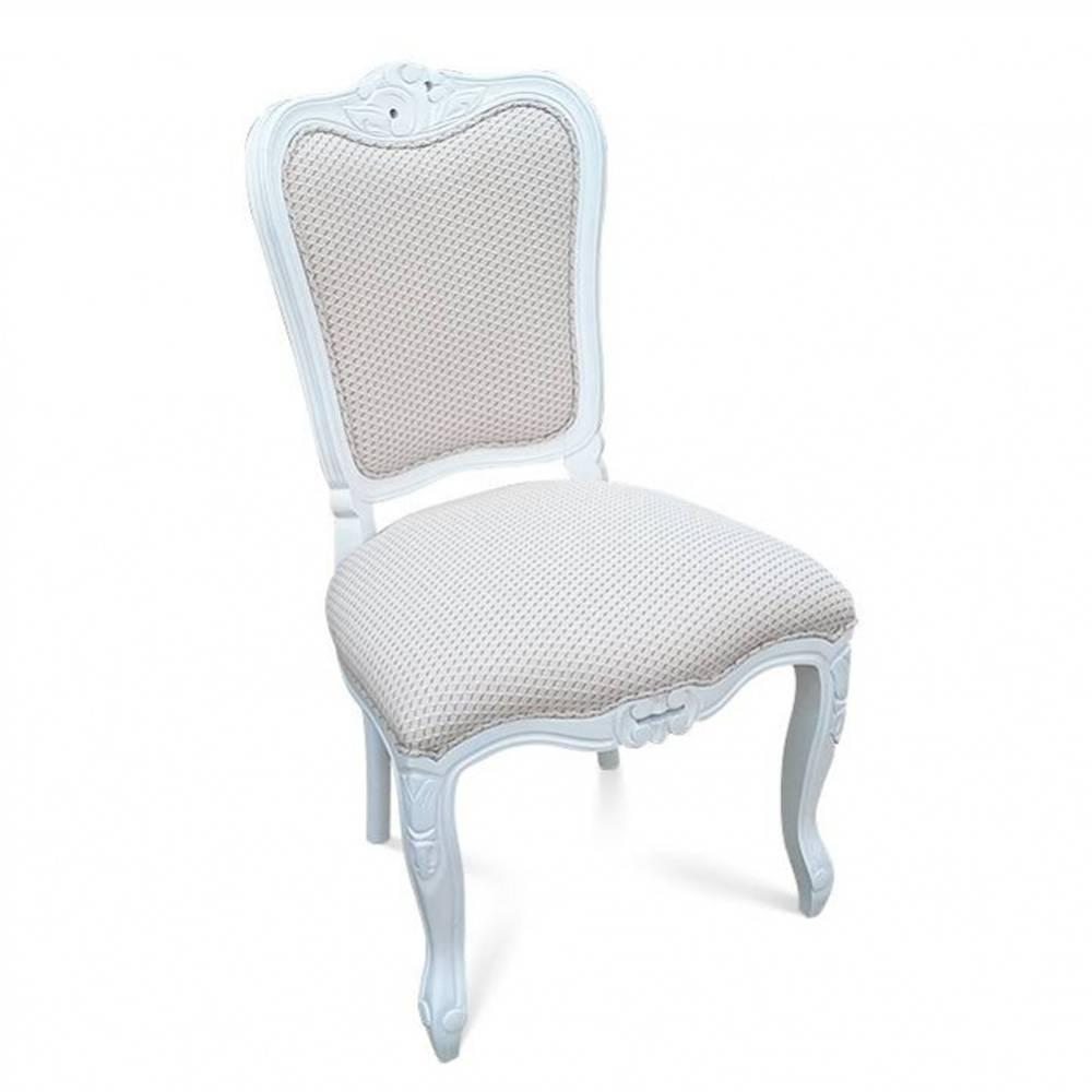 Cadeira Luis XIV em Madeira com Pinturas e Tecidos Personalizáveis