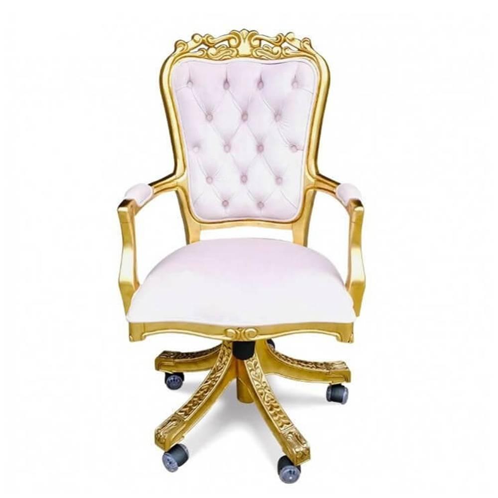 Cadeira Luis XV Giratória em Capitone com Pinturas e Tecidos Personalizados