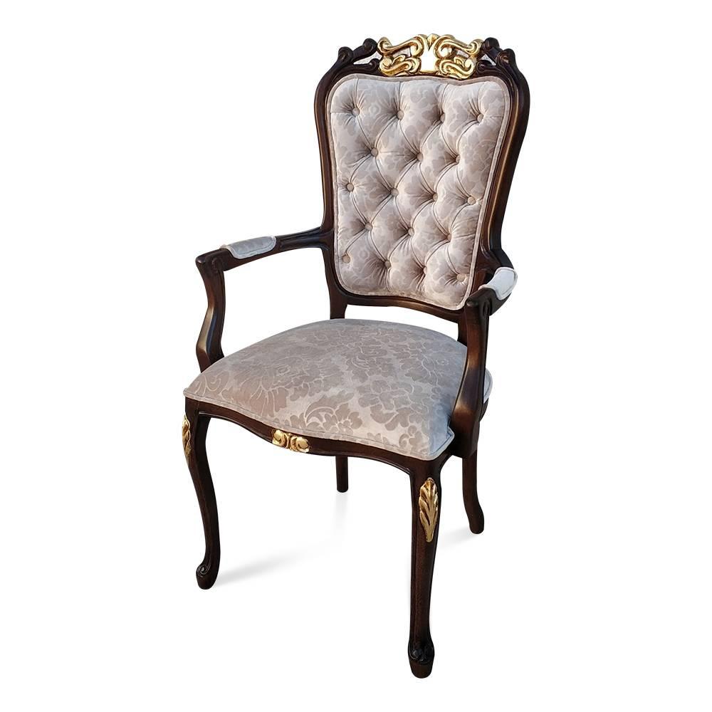 cadeira luis xv imbuia com ouro