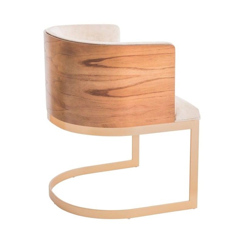 Cadeira Maya Estofada Base Aço Carbono Pintado Star Mobile
