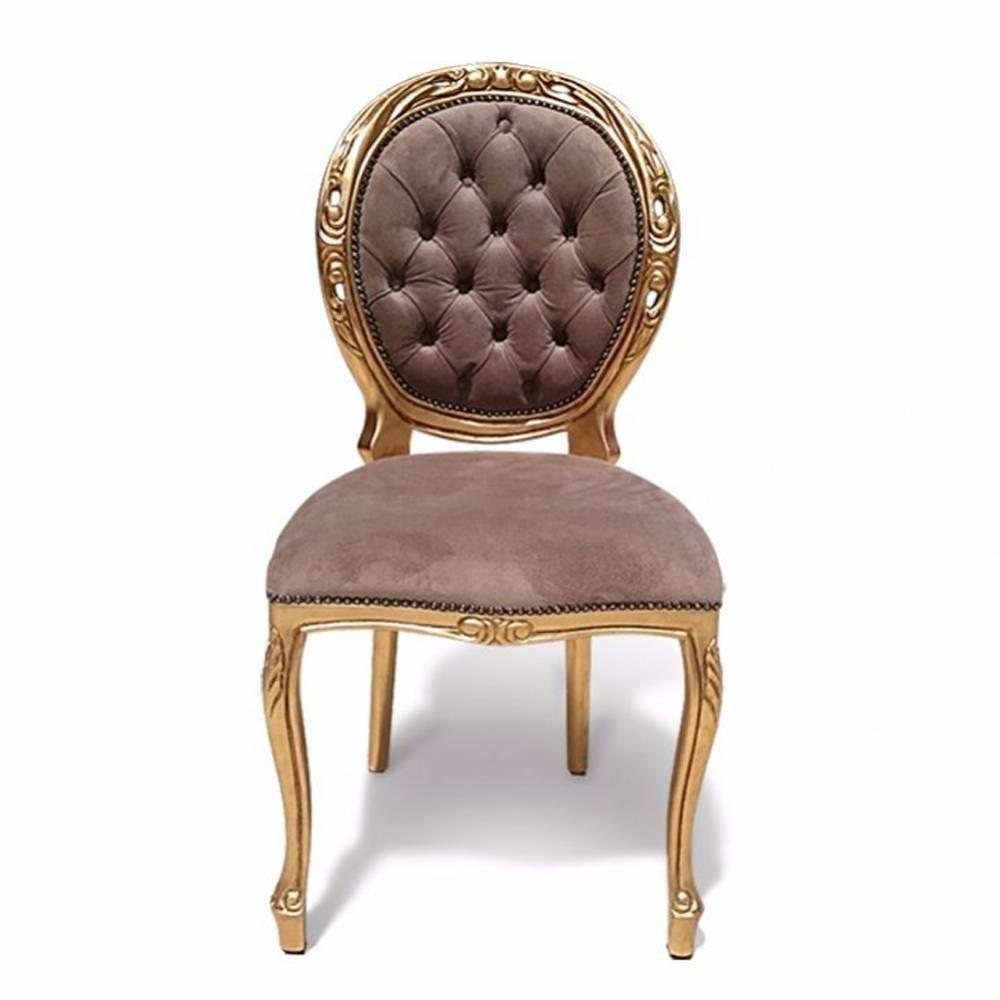 Cadeira Medalhão Provençal Entalhada com Pinturas e Tecidos Personalizáveis