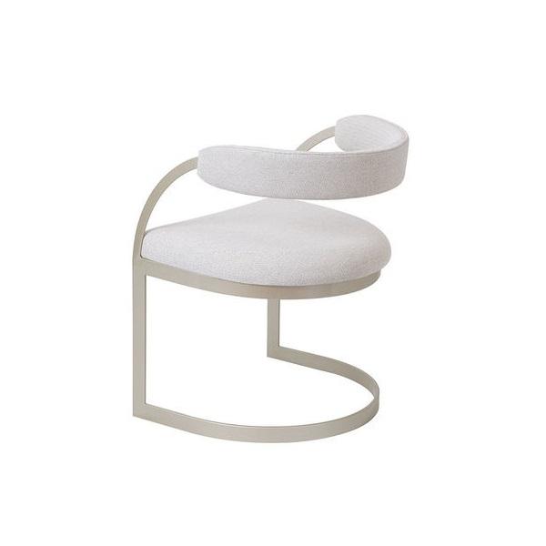 Cadeira Milliê Estofada Base Aço Carbono Pintado Star Mobile