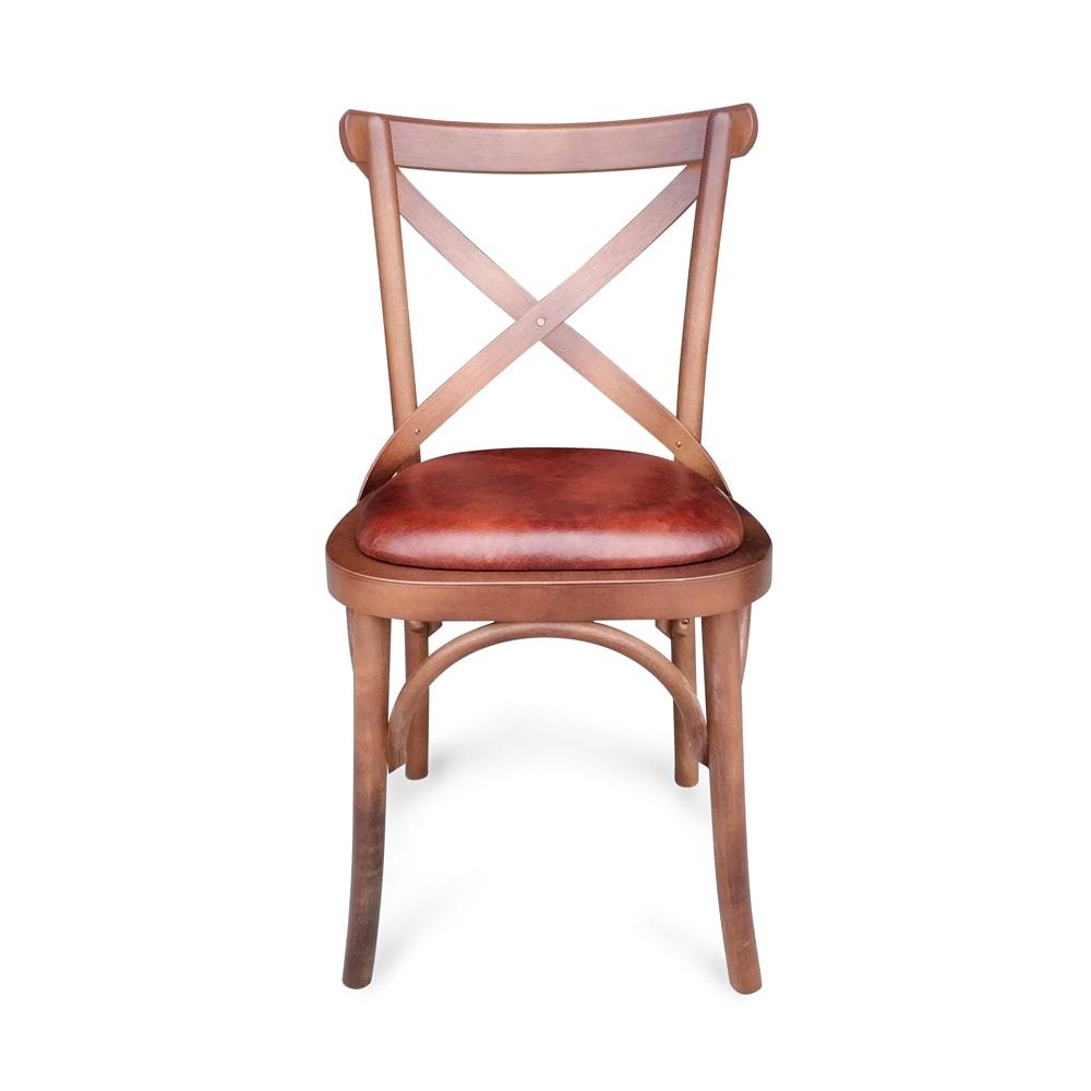 cadeira paris imbuia couro natural envelhecido