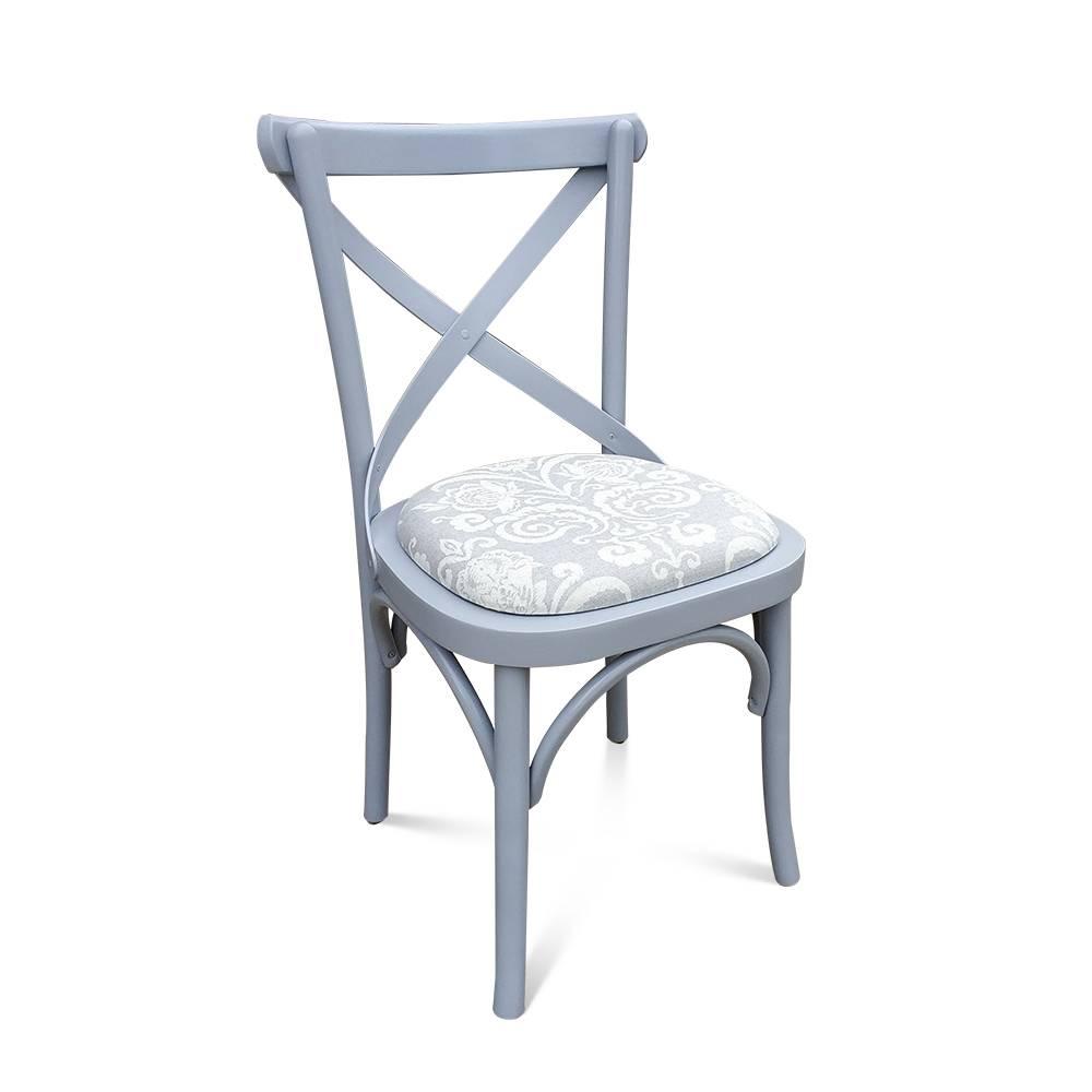 Cadeira Paris em Madeira Maciça com Pinturas e Tecidos Personalizáveis