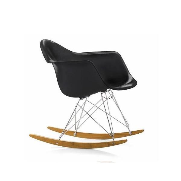 Cadeira Balanço Rar Fibra de Vidro Estrutura Madeira e Aço Inox Cremon Design by Charles & Ray Eames