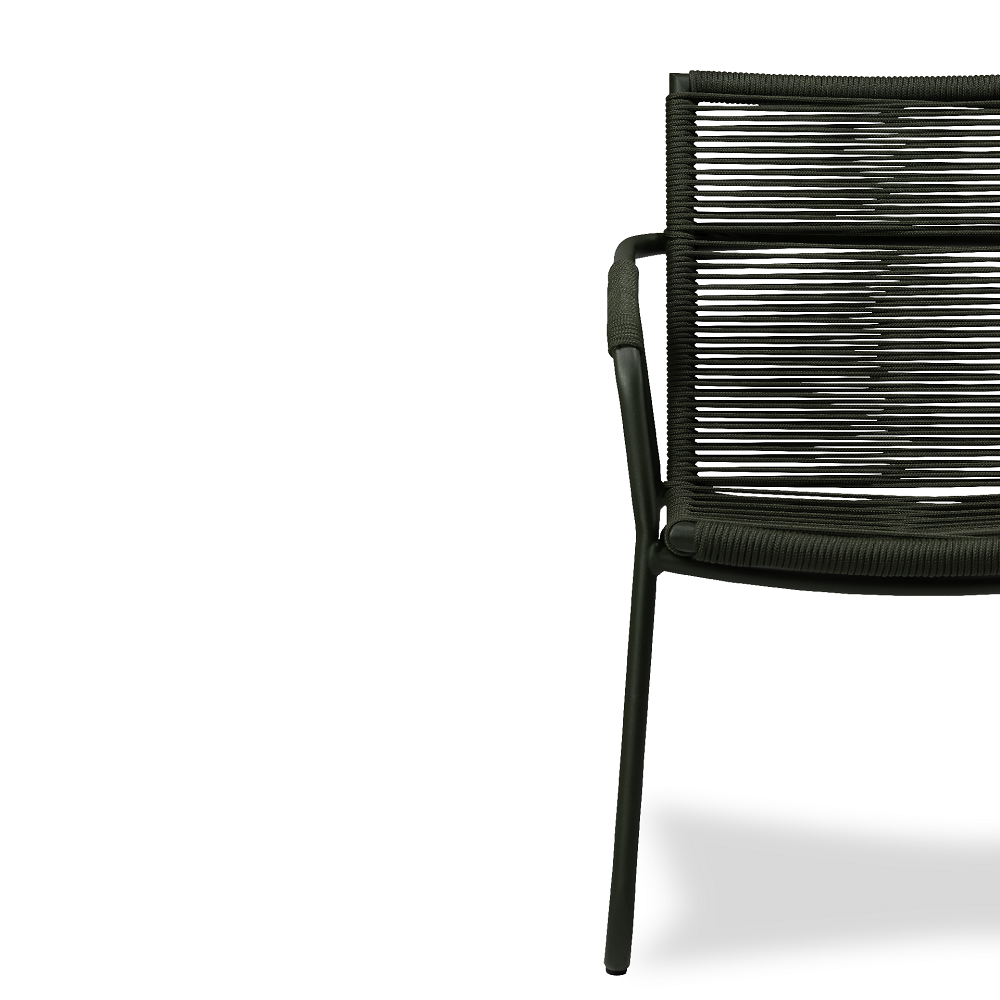 Cadeira Recife Área Externa Trama Corda Náutica Estrutura Alumínio Eco Friendly Design Scaburi