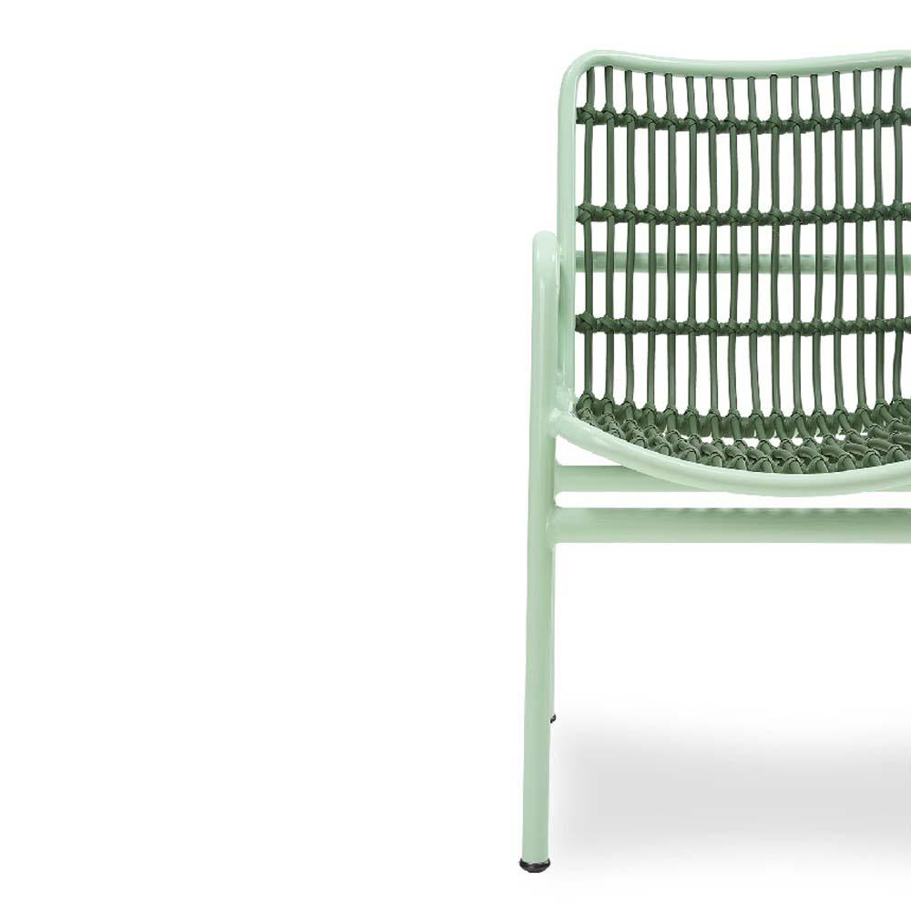 Cadeira Sami para Área Externa Fibra Sintética Estrutura Alumínio Eco Friendly Design Scaburi