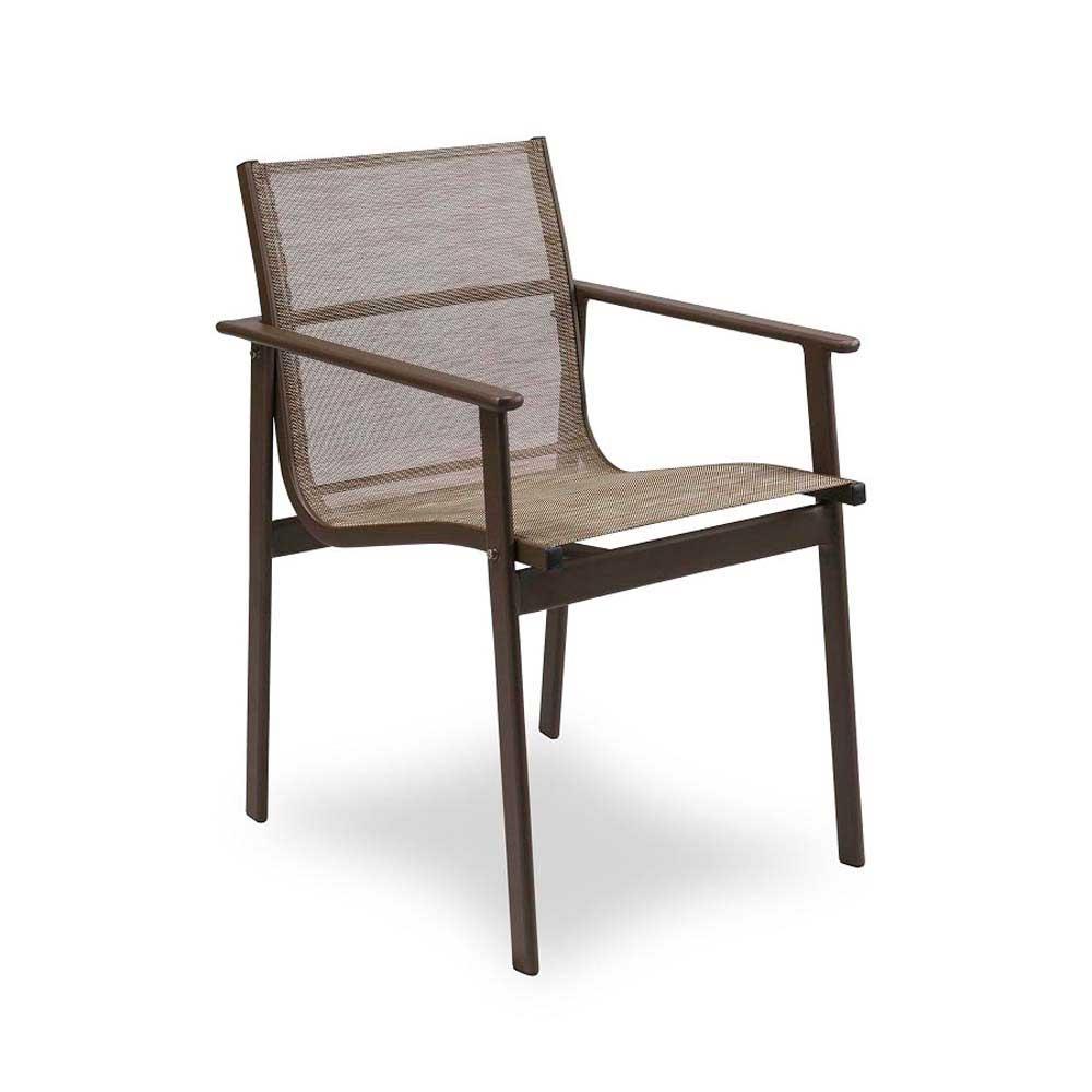 Cadeira San Diego para Área Externa Tela Sintética Estrutura Alumínio Eco Friendly Design Scaburi