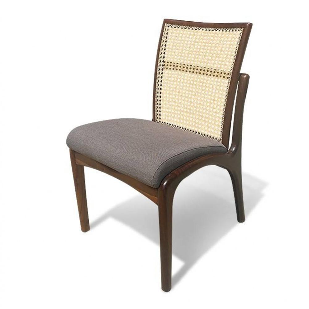 Cadeira com Tela Natural em Madeira com Pinturas e Tecidos Personalizáveis