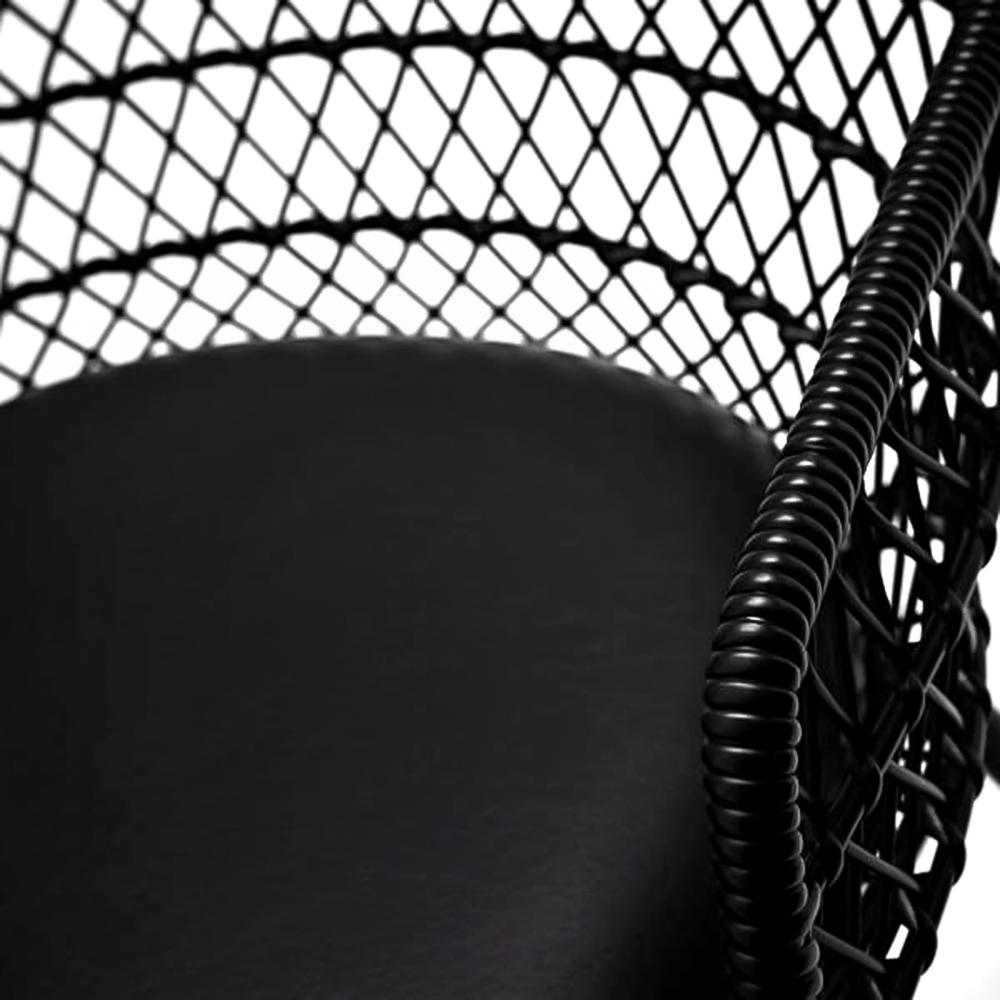 Cadeira Trama Com Braço Estofada