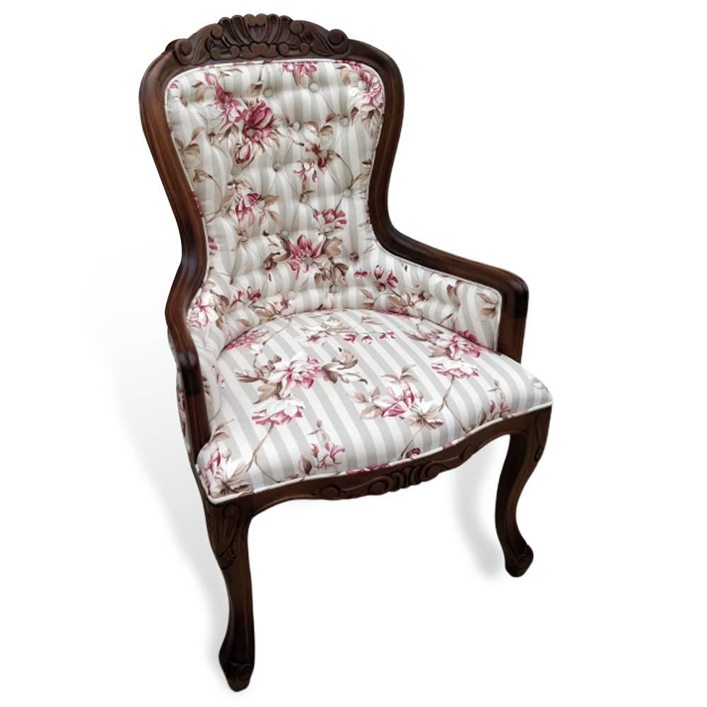 Cadeira Vitoriana Entalhada Imbuia