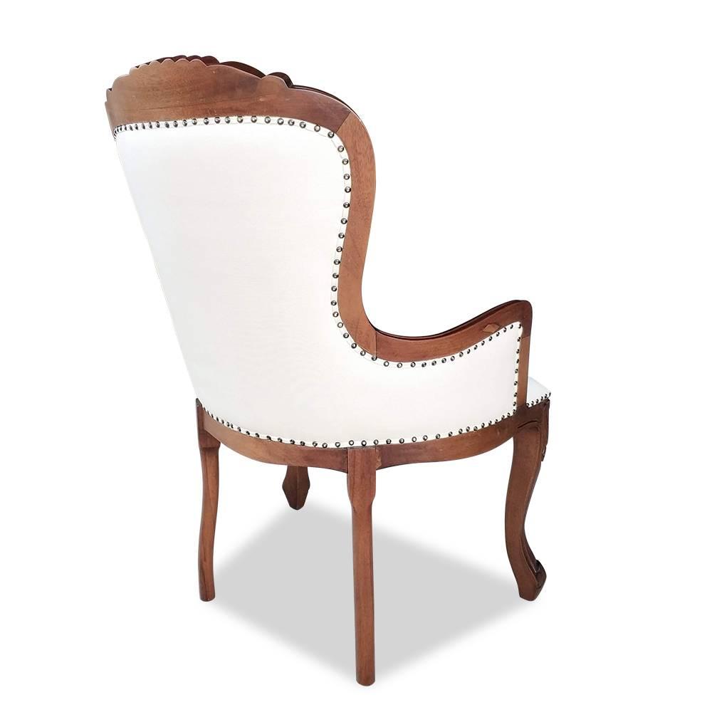 Cadeira Vitoriana Imbuia com Linho