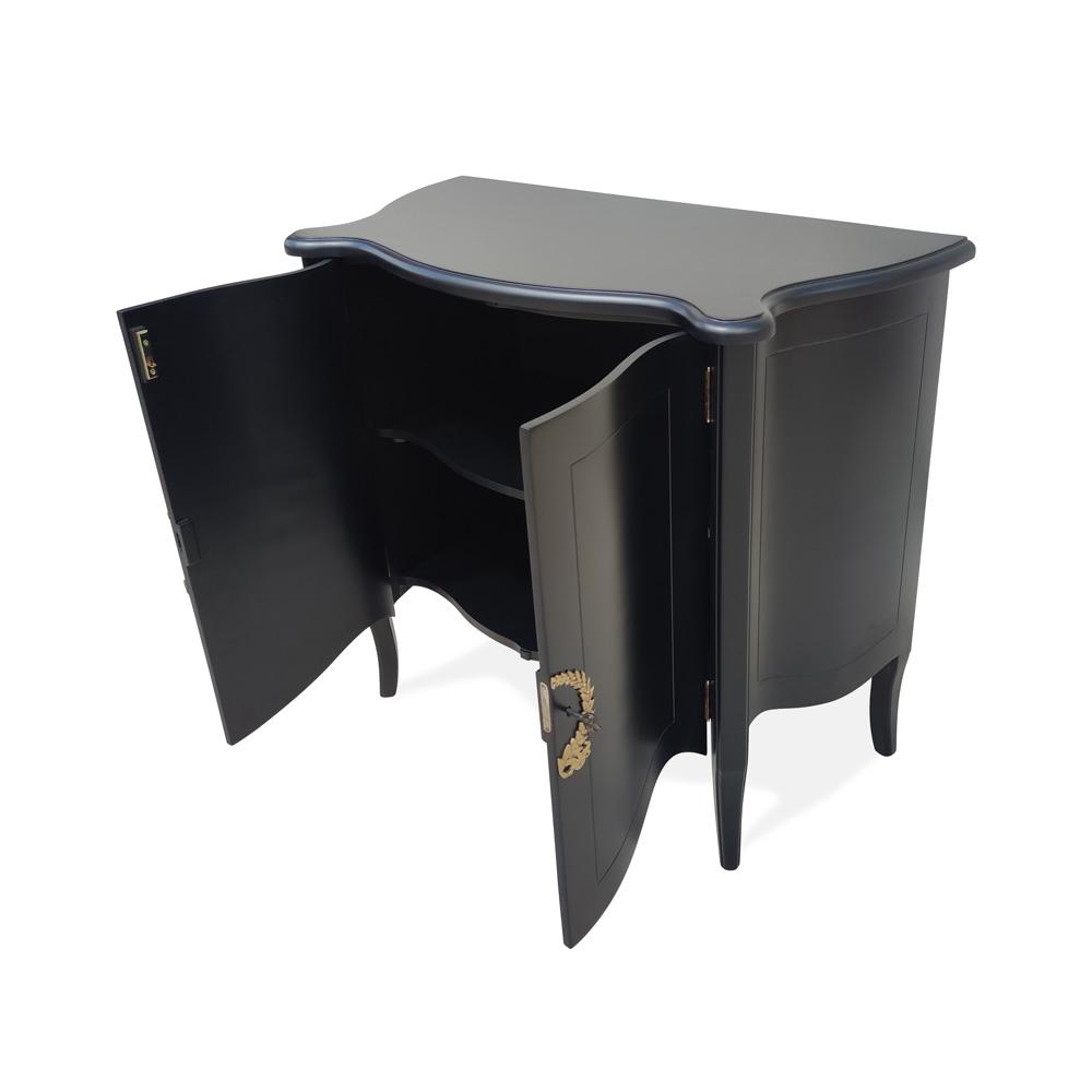 Cômoda Bombê Cavour com Portas Madeira Maciça Design Clássico