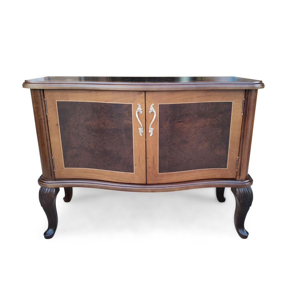 Cômoda Murano com Portas Personalizado Madeira Maciça Detalhe em Marchetaria Design Clássico