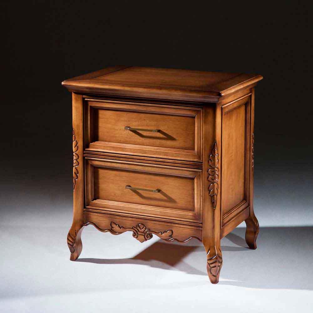 Criado Mudo Luxo Madeira Maciça Design Clássico Avi Móveis 1