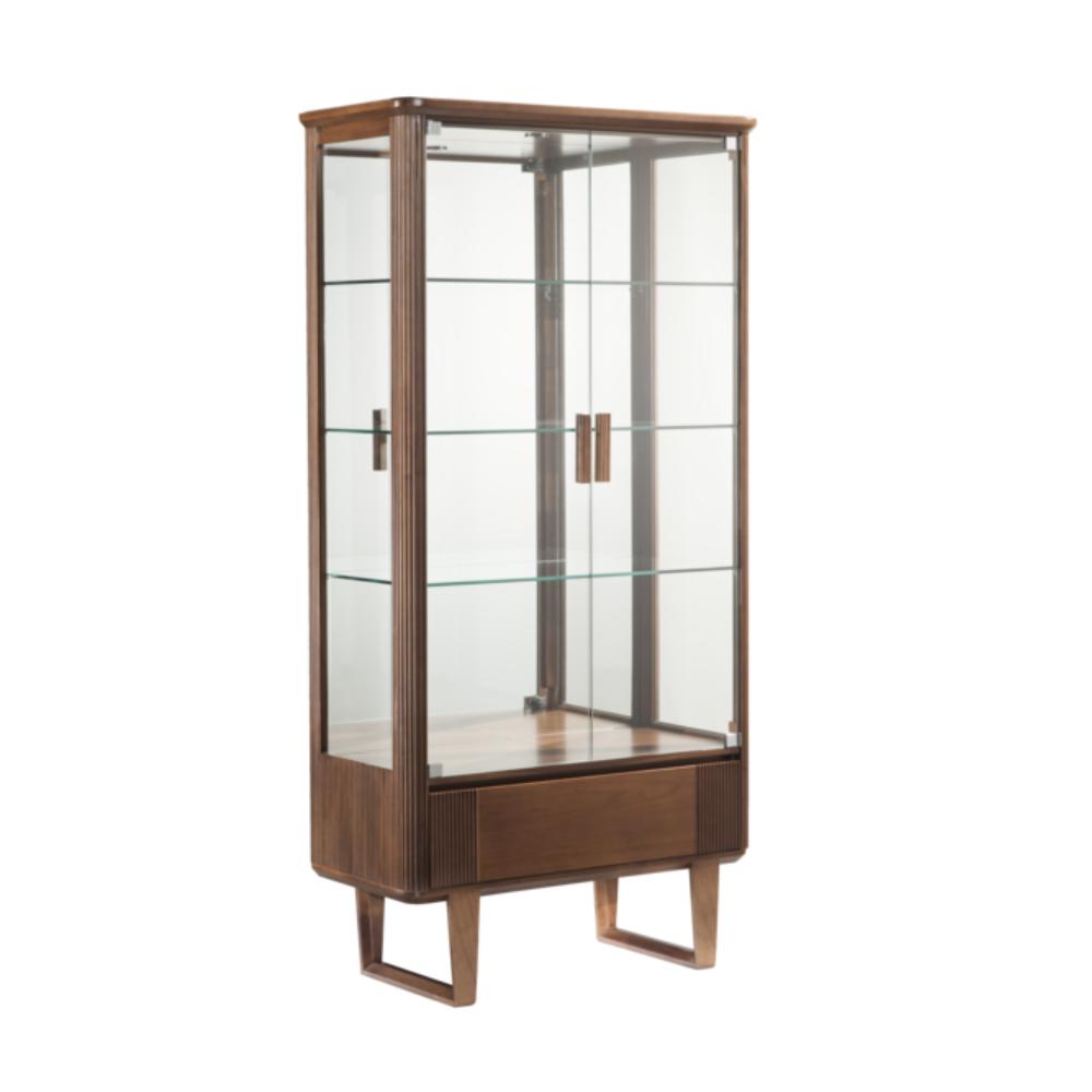 Cristaleira Costine 2 Portas Vidro Espelho Iluminação em Led Bivolt Jequitibá Móveis Armil