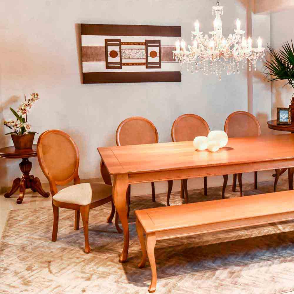 Banco Aurora Luis XV Madeira Maciça Design Clássico Avi Móveis