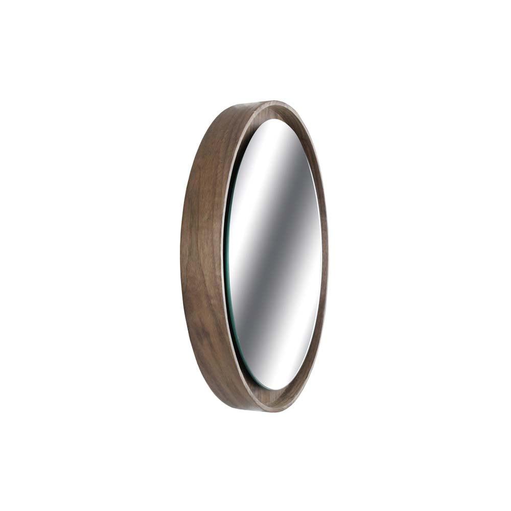 Espelho Valentim Moldura MDF Lâmina Madeira Design Industrial e Minimalista