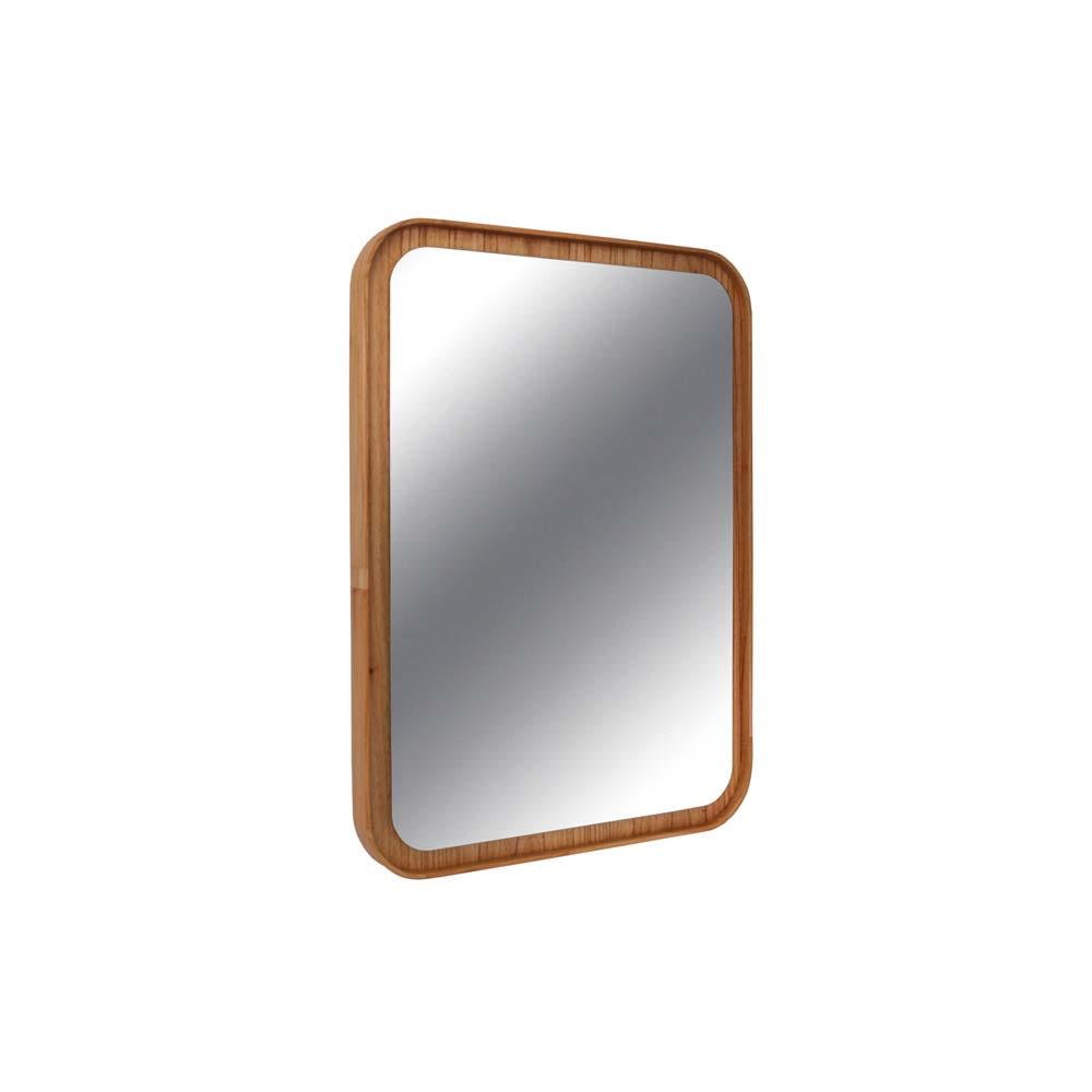 Espelho Valentim Retangular Estrutura Cinamomo Design Industrial e Minimalista
