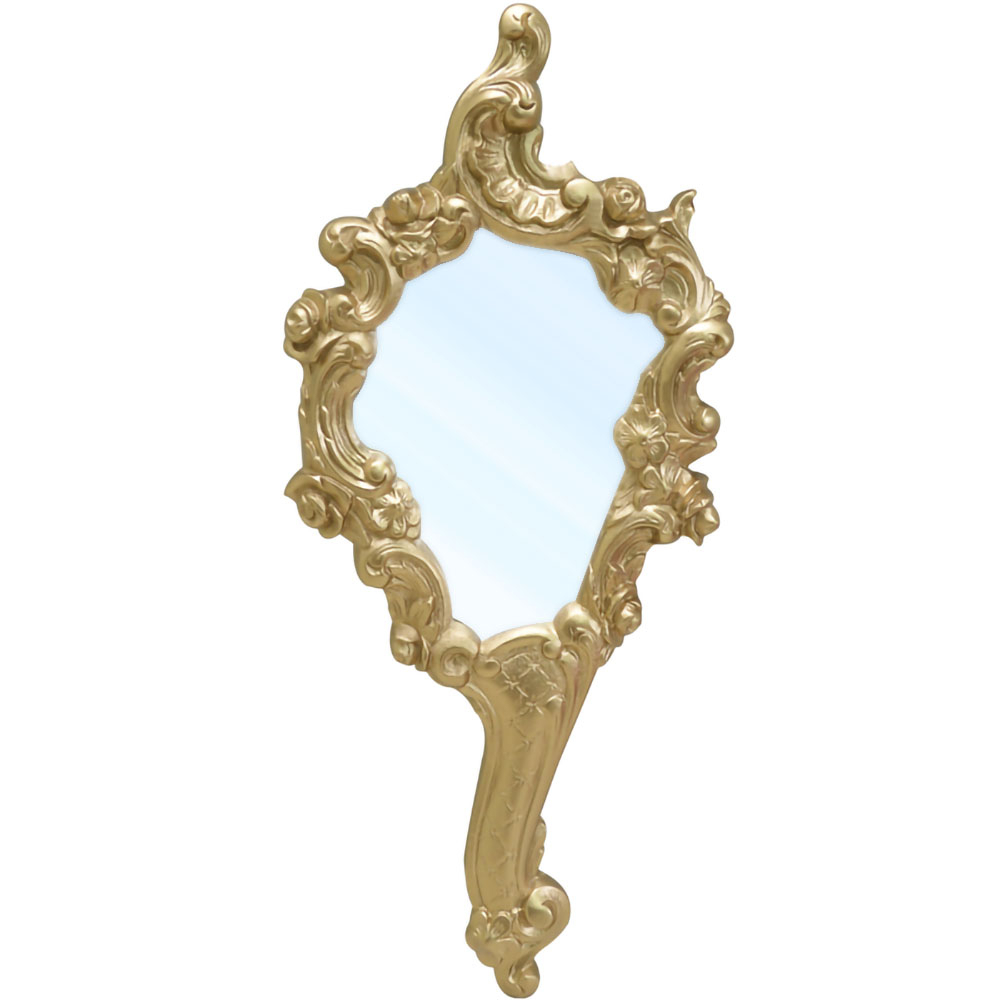 Espelho de Mão Princesa Dourado