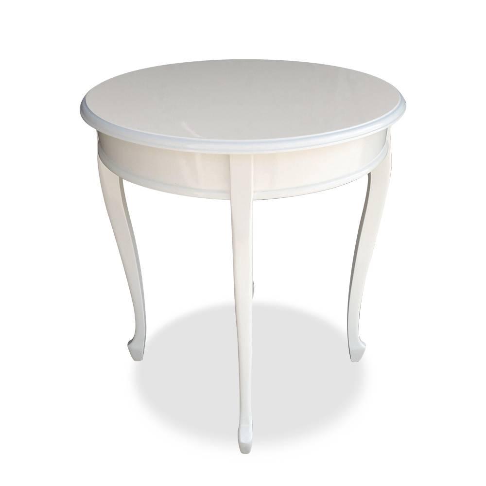 Mesa de Canto Inglesa Laca Branca