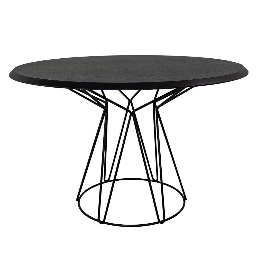 Mesa de Jantar Clever Tampo Laminado Base em Aço Carbono Design Industrial e Minimalista